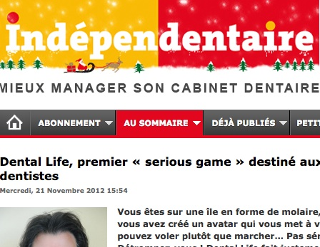 Dental Life, premier  « serious game » destiné aux chirurgiens-dentistes